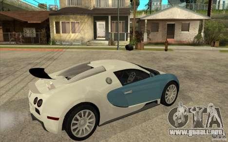 Bugatti Veyron Final para la visión correcta GTA San Andreas