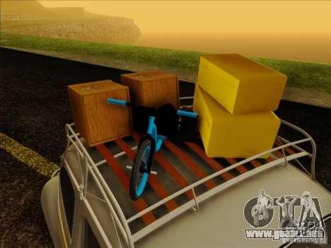 Volkswagen Beetle Edit para visión interna GTA San Andreas