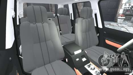 Range Rover Supercharged 2008 para GTA 4 vista interior