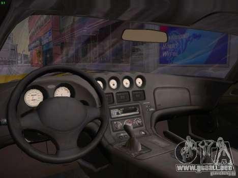 Dodge Viper 1996 para visión interna GTA San Andreas