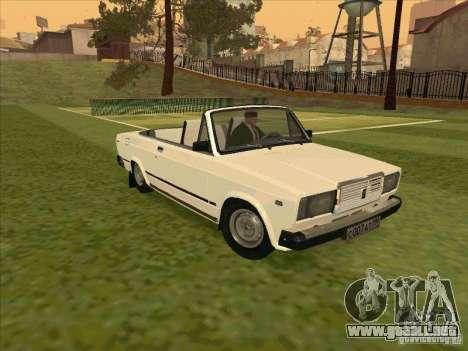 VAZ 2107 convertible para GTA San Andreas vista hacia atrás