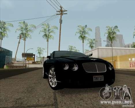 Bentley Continental GT V1.0 para GTA San Andreas left