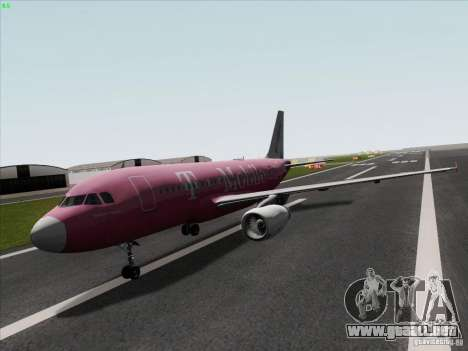 Airbus A319 Spirit of T-Mobile para GTA San Andreas