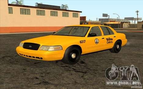 Ford Crown Victoria Taxi 2003 para GTA San Andreas