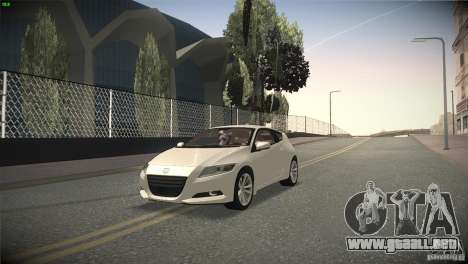 Honda CR-Z 2010 V1.0 para vista lateral GTA San Andreas