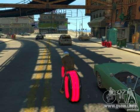 Motocicleta del trono (neón rojo) para GTA 4 left