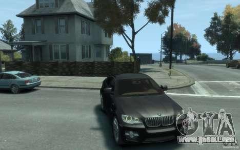 BMW X6 para GTA 4 vista hacia atrás