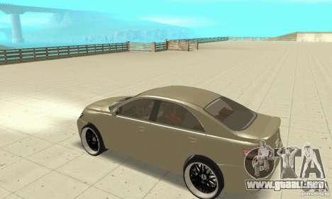 Toyota Camry Tuning 2010 para GTA San Andreas vista hacia atrás