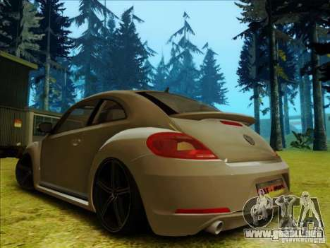 Volkswagen New Bettle 2013 Edit para GTA San Andreas vista posterior izquierda