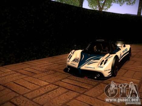 Pagani Zonda R para visión interna GTA San Andreas