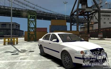 Skoda Octavia II 2005 para GTA 4 vista hacia atrás