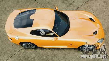 SRT Viper GTS 2013 para GTA 4 visión correcta