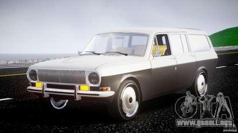 GAZ 24-12 1986-1994 Stock Edition v2.2 para GTA 4 vista hacia atrás