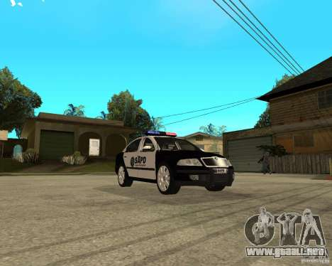 Skoda Octavia II 2005 SAPD POLICE para GTA San Andreas vista hacia atrás