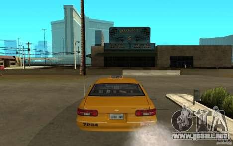 Chevrolet Caprice taxi para la visión correcta GTA San Andreas