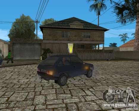 ZAZ Tavria 1102 para GTA San Andreas vista posterior izquierda