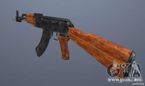 AK 47 con bayoneta para GTA San Andreas tercera pantalla