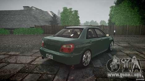 Subaru Impreza v2 para GTA 4 vista desde abajo