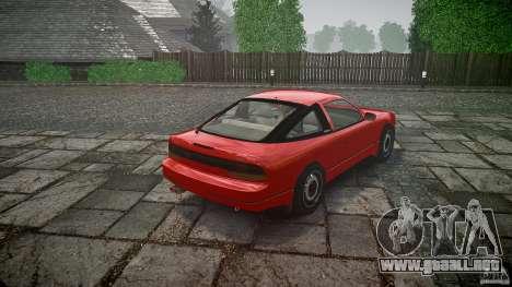 Nissan 240SX para GTA 4 Vista posterior izquierda