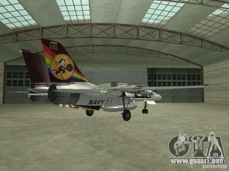 F-14 para GTA San Andreas vista posterior izquierda