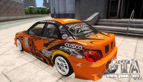 Subaru Impreza WRX STi GDB Team Orange para GTA 4 left