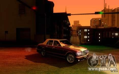 Bentley Arnage R 2005 para GTA San Andreas vista hacia atrás