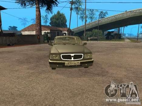 GAZ 3110 v 2 para GTA San Andreas vista posterior izquierda