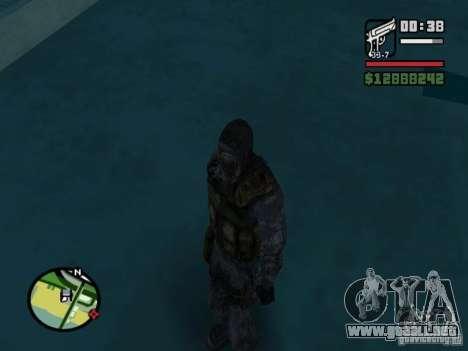 Mercenario acosador en la nueva kombeze para GTA San Andreas sucesivamente de pantalla