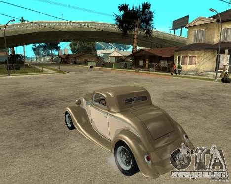 Ford 1934 Coupe v2 para GTA San Andreas left