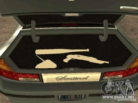 HD Mafia Sentinel para GTA San Andreas vista hacia atrás