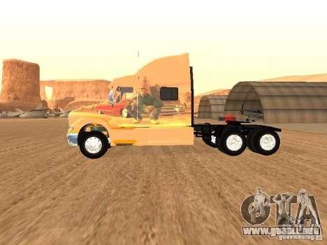 Peterbilt 387 piel 3 para GTA San Andreas vista posterior izquierda