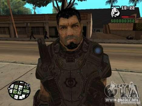 Dominic Santiago de Gears of War 2 para GTA San Andreas sucesivamente de pantalla