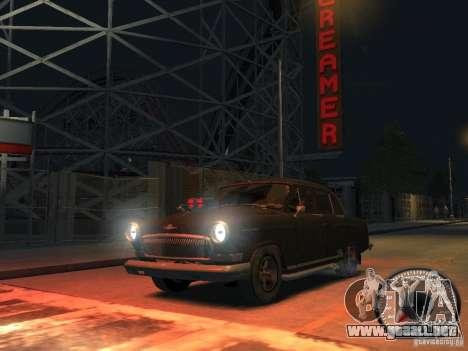 Volga GAZ 21 v8 para GTA 4 vista hacia atrás