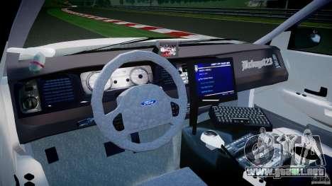 Ford Crown Victoria US Marshal [ELS] para GTA 4 visión correcta