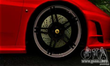 Ferrari F430 Novitec Rosso para GTA San Andreas vista hacia atrás