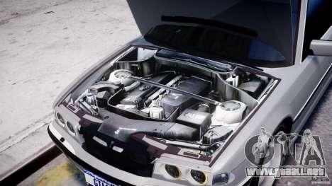 BMW 750i v1.5 para GTA 4 vista desde abajo