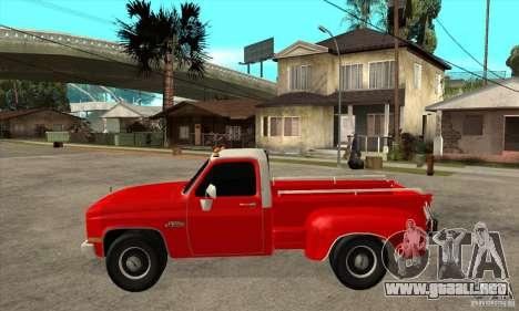 GMC 454 PICKUP para GTA San Andreas left
