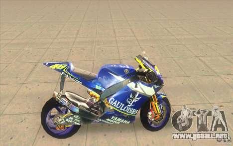 Yamaha M1 Rossi para GTA San Andreas left