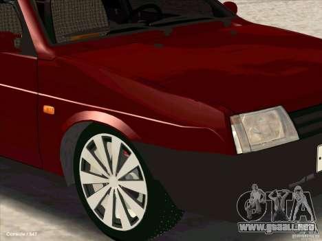 VAZ 2109 invierno para la visión correcta GTA San Andreas