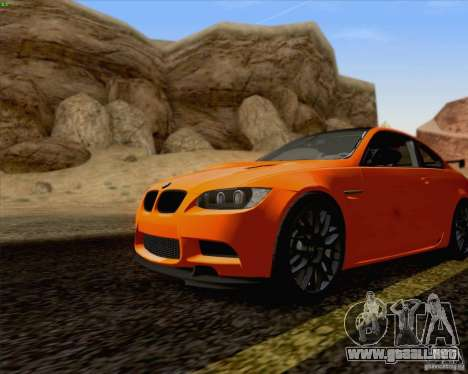 BMW M3 GT-S Fixed Edition para GTA San Andreas vista posterior izquierda
