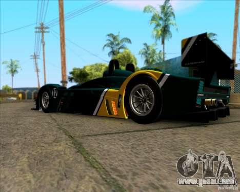 Caterham Lola SP300R para GTA San Andreas vista posterior izquierda