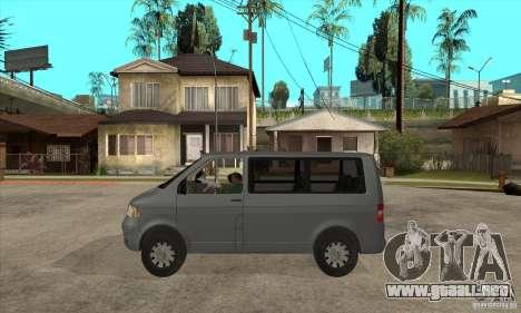 Volkswagen Transporter T5 TDI para GTA San Andreas left