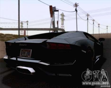 Lamborghini Aventador LP700-4 2011 para GTA San Andreas vista hacia atrás