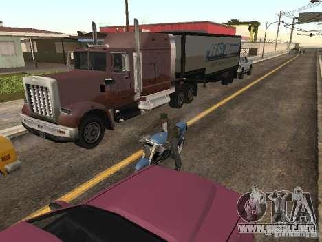 Vehículos con remolques para GTA San Andreas segunda pantalla