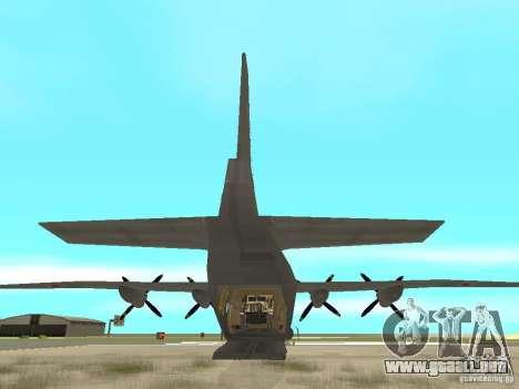 Antonov An-12 para GTA San Andreas vista posterior izquierda
