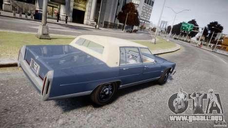 Cadillac Fleetwood Brougham 1985 para GTA 4 vista interior