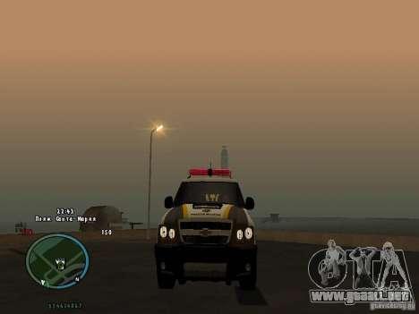 Chevrolet Blazer para GTA San Andreas vista posterior izquierda