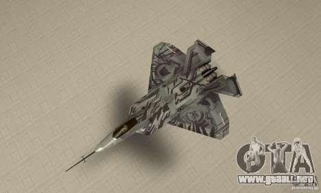 YF-22 Starscream para la visión correcta GTA San Andreas