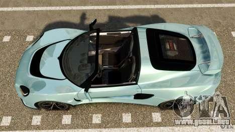 Lotus Exige S 2012 para GTA 4 visión correcta