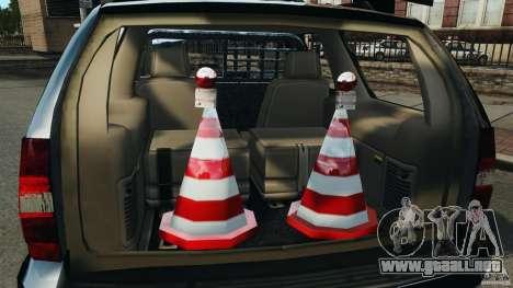 Chevrolet Tahoe LCPD SWAT para GTA 4 vista superior